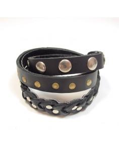 Long bracelet stylisé noir
