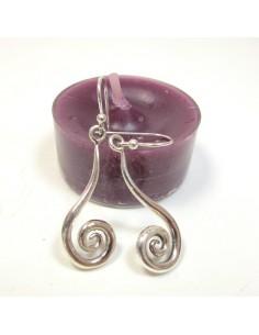 Fines boucles d'oreilles argent spirale
