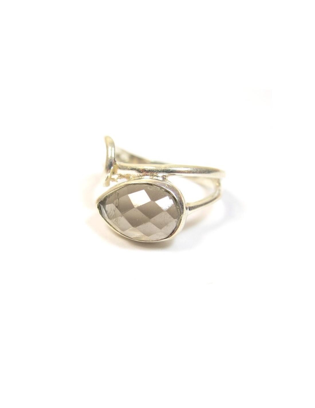 bague argentet quartz fum bijoux fins b604. Black Bedroom Furniture Sets. Home Design Ideas