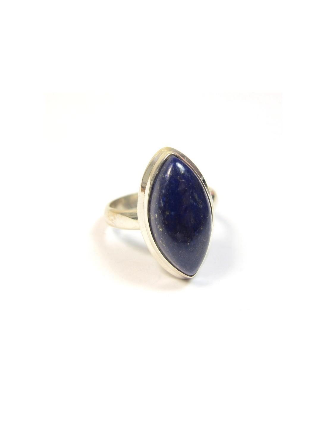 bague argent et lapis lazuli bijoux argent sobres b644. Black Bedroom Furniture Sets. Home Design Ideas