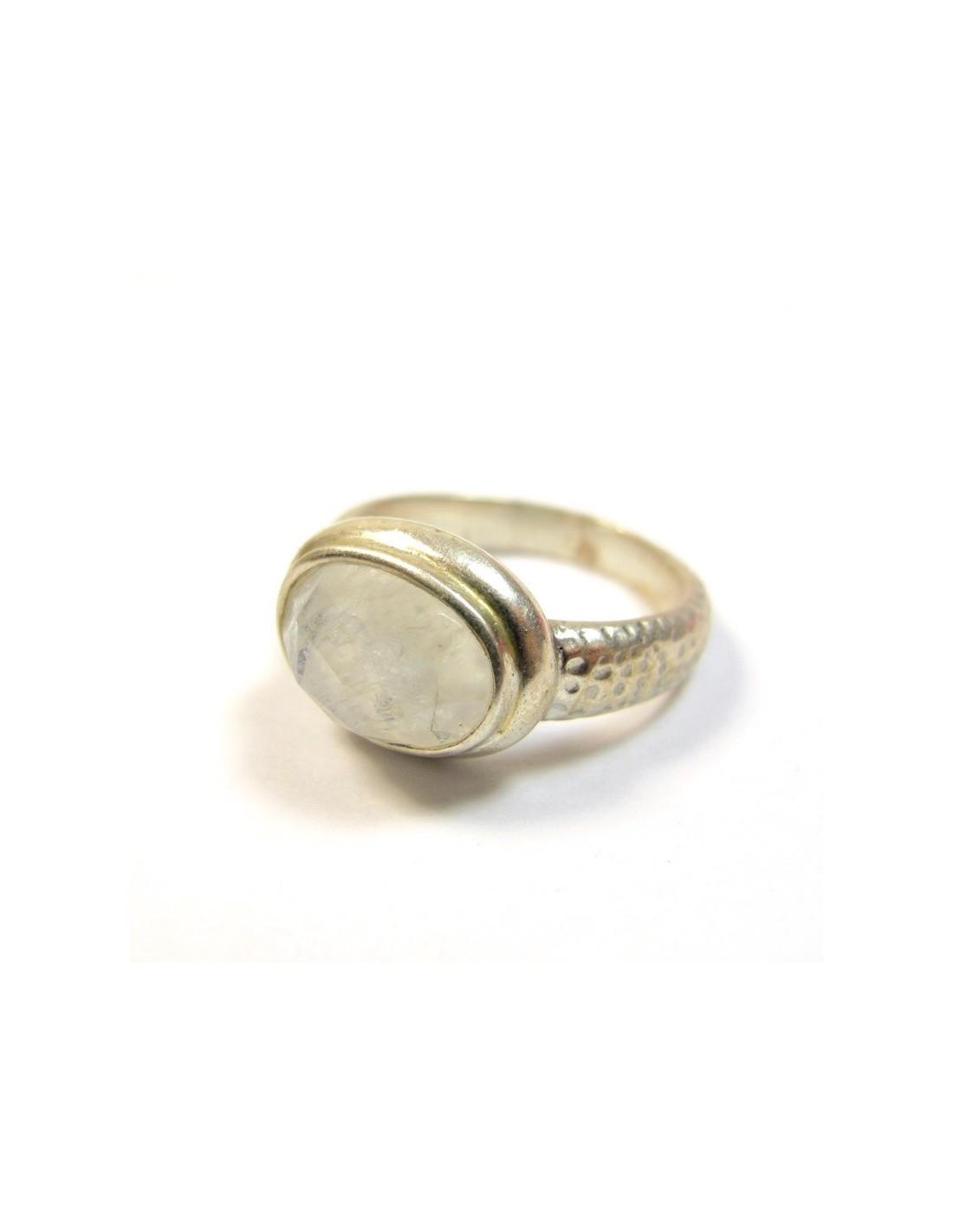 bague argent et pierre de lune bijoux m t b660. Black Bedroom Furniture Sets. Home Design Ideas