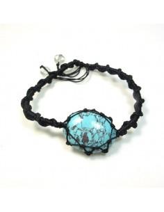 Bracelet coulissant turquoise