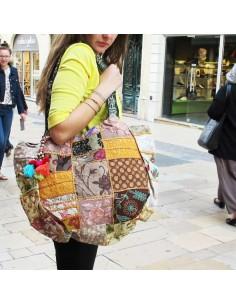 Grand sac coloré patchwork