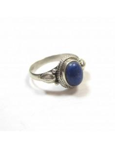 Bague argent et lapis lazuli T52