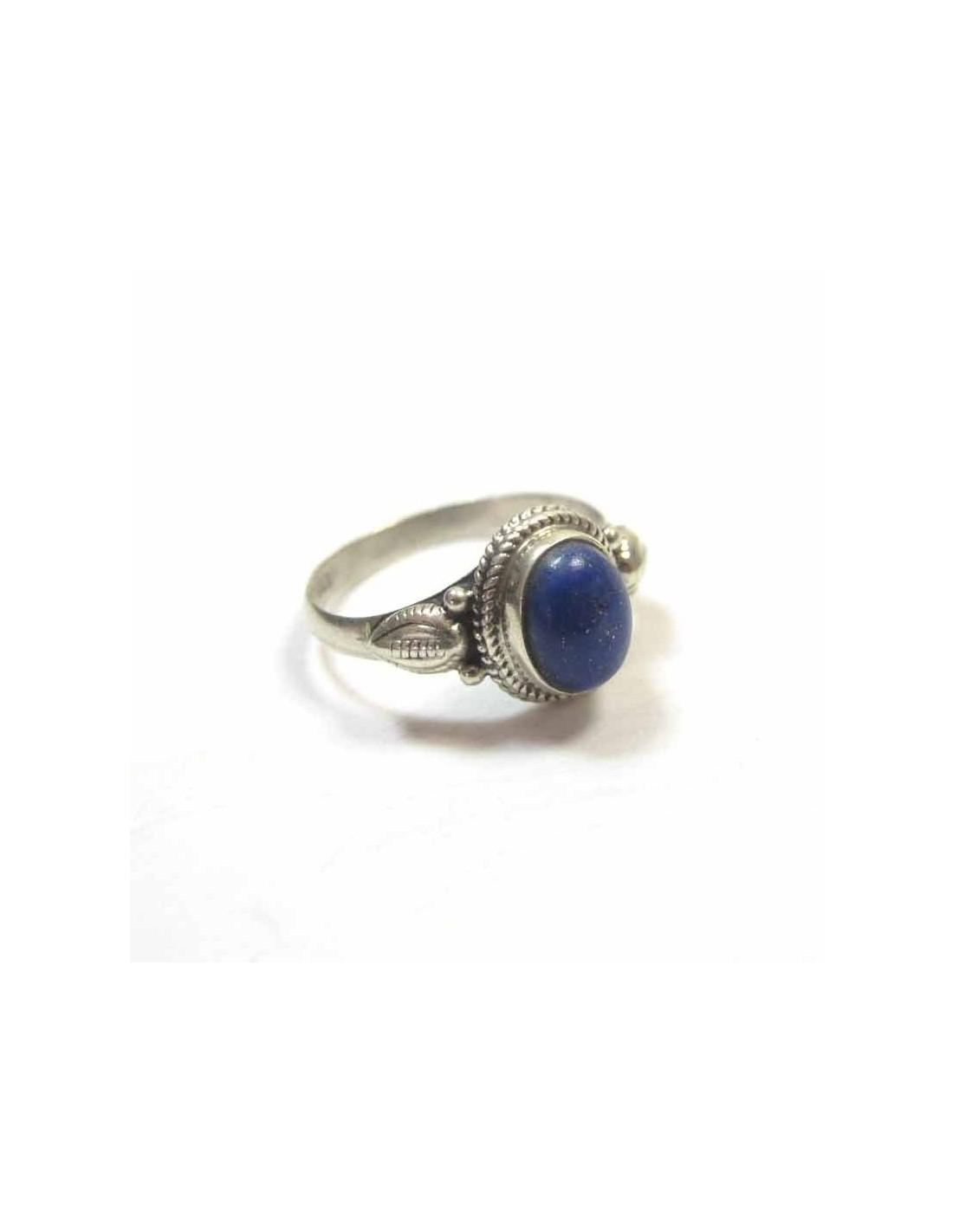 bague argent et lapis lazuli bijoux simple b782. Black Bedroom Furniture Sets. Home Design Ideas