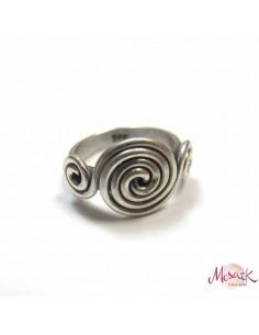 Bague argent motifs spirales T52