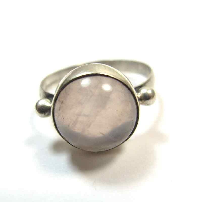 Bijoux Argent Quartz Rose : Bague argent quartz rose bijoux fins bp