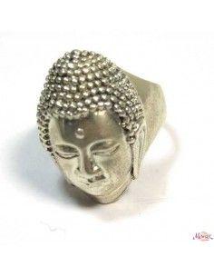grosse bague argent Bouddha