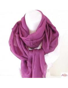 Foulard en soie lilas