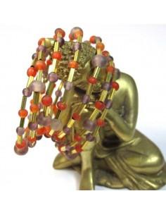 bracelet spirale rles violettes et oranges