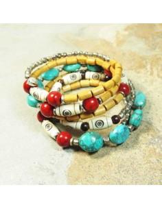 bracelet tibétain à spirale