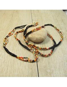 collier sautoir perles colorées