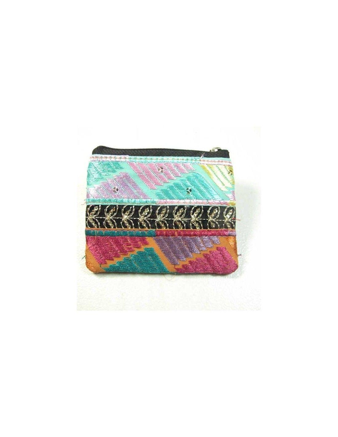 Porte monnaie indien color pochettes et porte monnaie - Porte monnaie en tissu ...