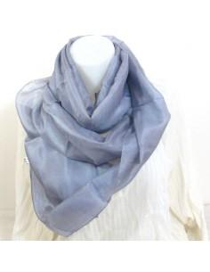 Foulard en soie gris