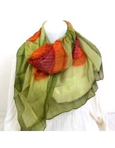 Foulard en soie multi couleurs