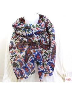 Foulard en soie à motifs