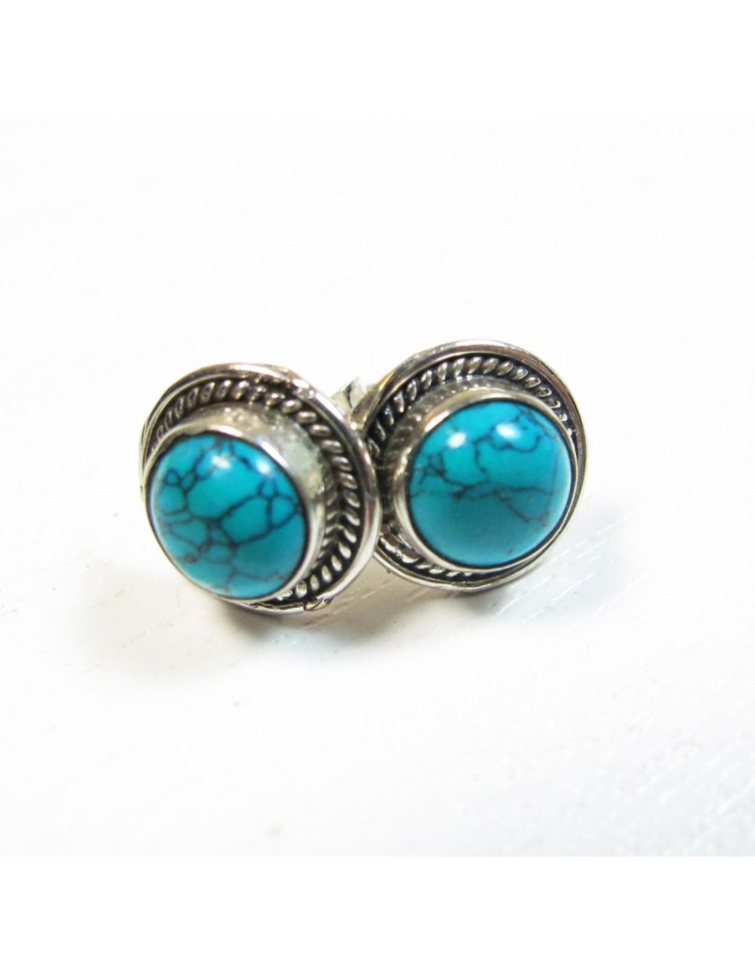 diamond earrings boucles d 39 oreilles argent et turquoises. Black Bedroom Furniture Sets. Home Design Ideas