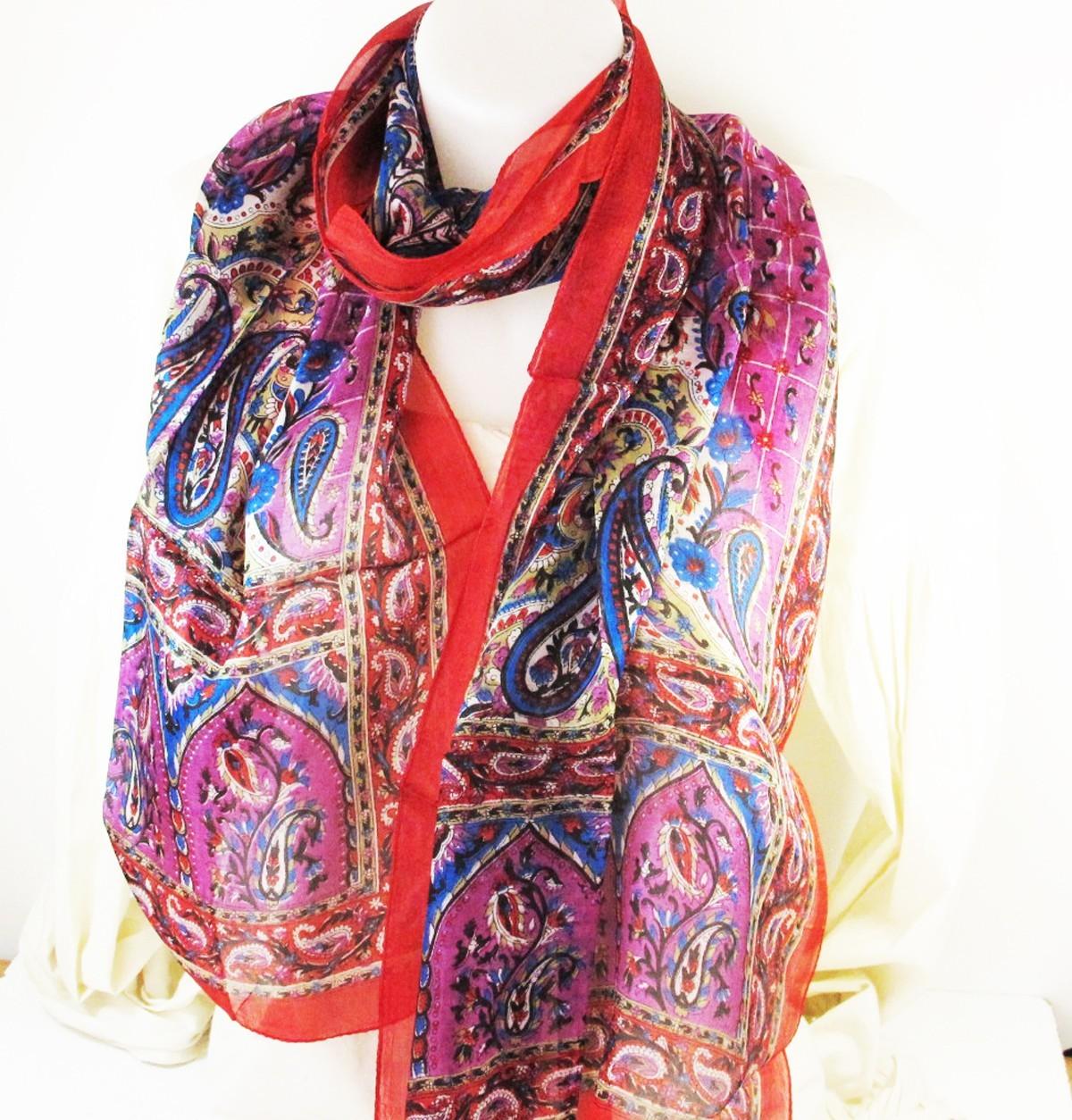 foulard en soie rouge violet vente de soie et foulards d 39 inde. Black Bedroom Furniture Sets. Home Design Ideas