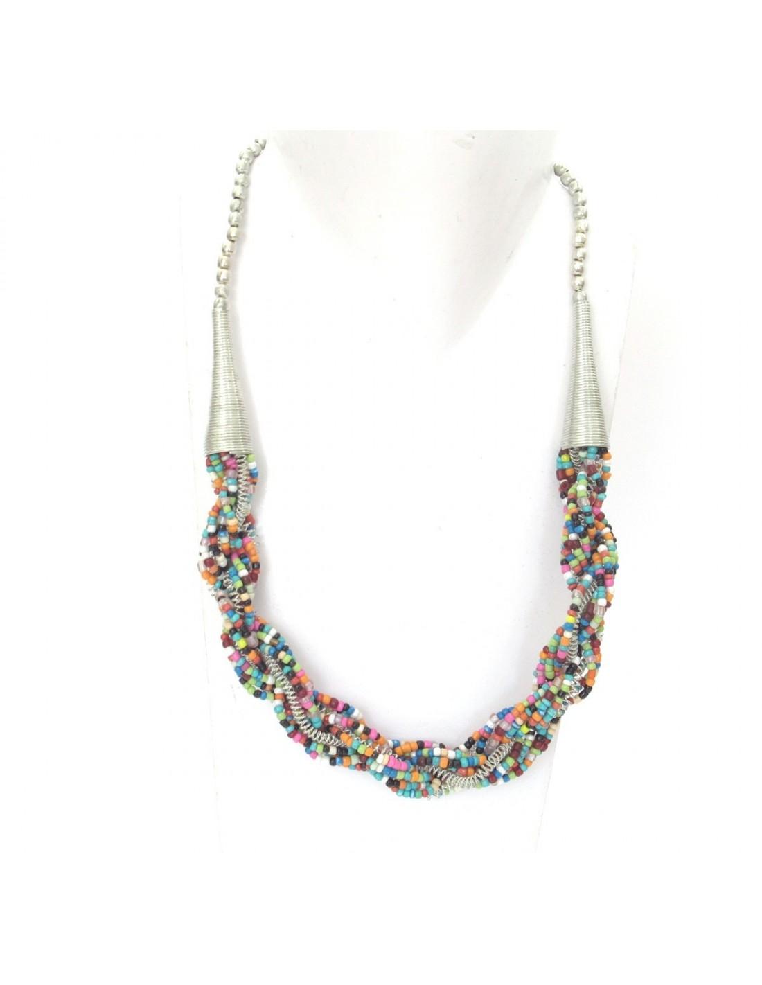 collier de perles fines torsad es bijoux et colliers indiens. Black Bedroom Furniture Sets. Home Design Ideas
