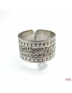 anneau argent ciselé taille reglable