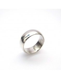 anneau lisse en argent taille 54