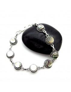 bracelet argent et nacres