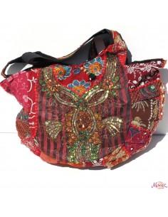gros sac en tissus brodés patchwork