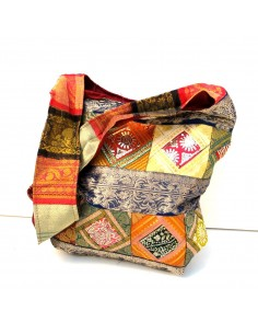 sac besace tissus patchwork