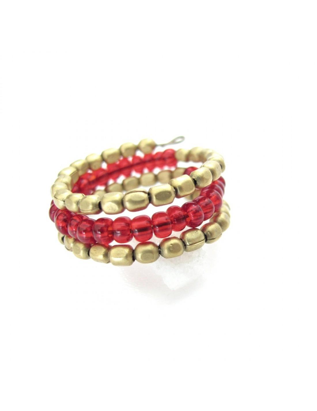 bague de pouce perles rouges bagues fantaisie indiennes bf37. Black Bedroom Furniture Sets. Home Design Ideas