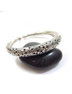 bracelet argent jonc ciselé