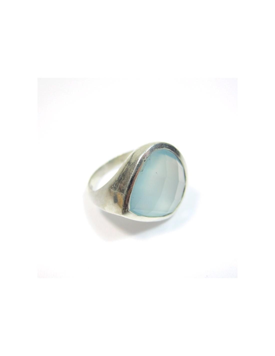 bague argent et onyx bleu bijoux argent de couleur bleue b3665. Black Bedroom Furniture Sets. Home Design Ideas