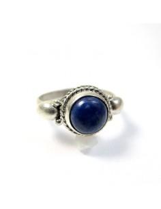 Bague argent et lapis lazuli T50