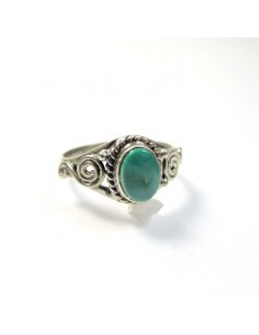 Bague turquoise T52