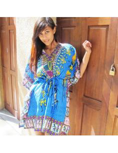 Tunique indienne à moifs colorés