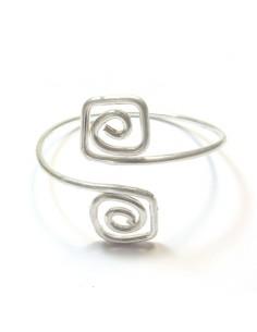 Bracelet de bras métal argenté