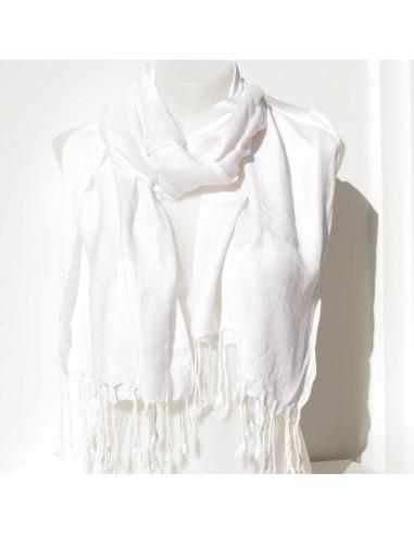 écharpe unie blanche
