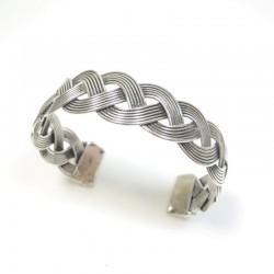 bracelet argenté tressé