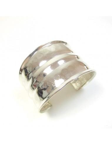 manchette en métal argenté