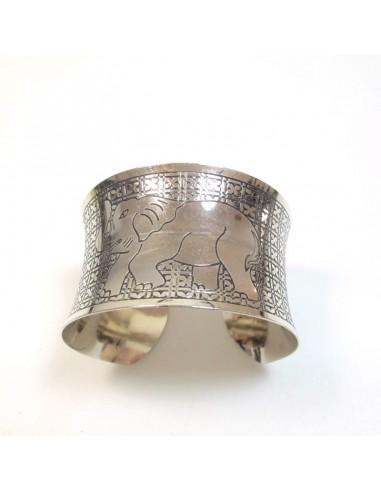 bracelet argenté éléphant