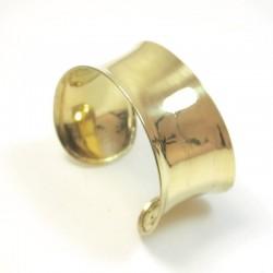 bracelet doré lisse en laiton