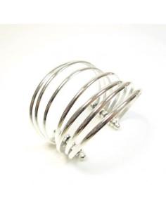 bracelet argenté 7 rangs