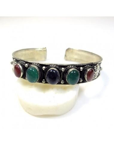 bracelet tibétain avec pierres