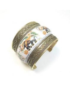 bracelet large motifs éléphants