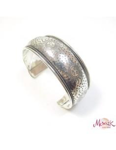 bracelet métal argenté soleil