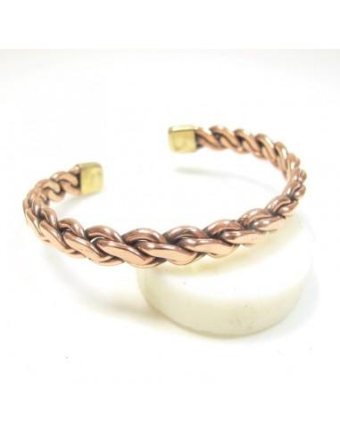 bracelet tressé en cuivre