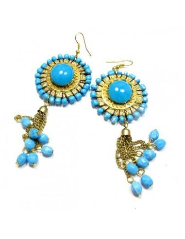 Grosses pendantes bleues