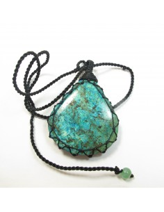 Gros pendentif turquoise forme goutte