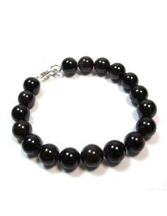 Bracelet grenat grosses perles - Mosaik bijoux indiens