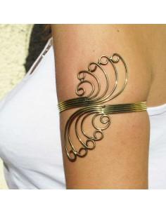 bracelet de bras large à volutes
