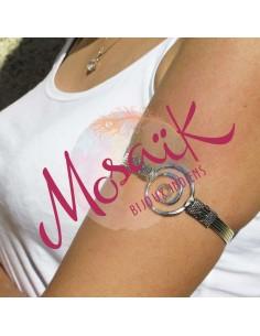 bracelet de bras argenté spirale